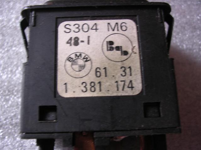 Schalter Heizung Heckscheibe BMW E30-61311381174 1381174